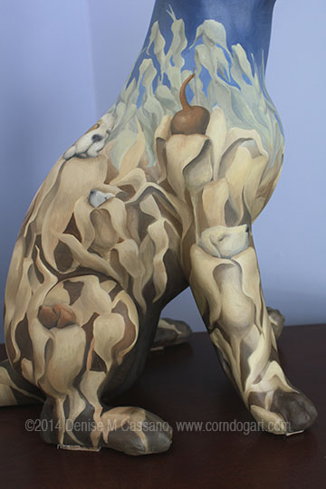 Sleepy Puppy Sculpture, Denise Cassano